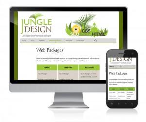 Desktop and mobile friendly website
