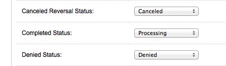Opencart PayPal Order Status